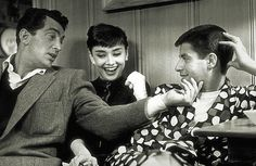 Audrey Hepburn with Jerry Lewis and Dean Martin