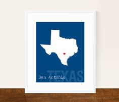 Custom Texas Personalized State Print State by AsYouWishPrinting, $16.00