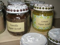 {Your Crap, My Craft}: Baby Food Jar Re-do (sugar scrubs)