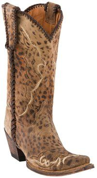 Next on my list----#Lucchese Style M5040, Women's: Camel Cheetah Print #Boot with Catania Stitch & Lacing