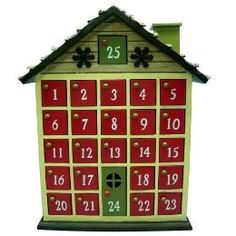 Wooden Advent Box for Christmas Wooden House Advent Calendar, Advent House, Advent Box, Custom Wooden Boxes, Craft Projects, Project Ideas, Craft Ideas, Advent Calenders, Xmas