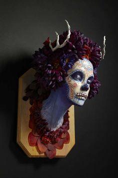 Sugar Skull Sculptures : Krisztianna Muertita