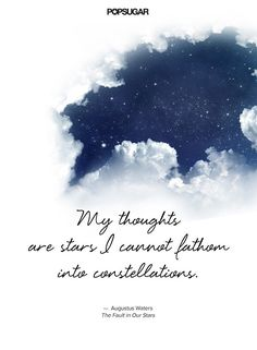 My thoughts are stars I cannot fathom into constellations.