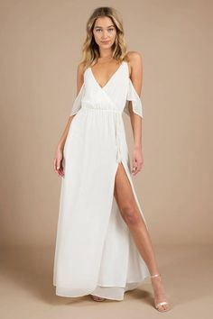 a77f535d3b6d 7 Best White Flowy Dress images | Cute dresses, Formal dresses, Long ...