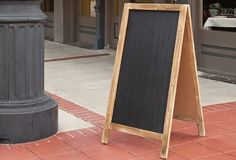 HUGE Double Sided A-Frame Chalkboard Sign - From Antiquefarmhouse.com - http://www.antiquefarmhouse.com/current-sale-events/chalk6/a-frame-chalkboard-sign.html