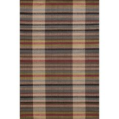 Swedish Rag Handwoven Cherry Brown Indoor Outdoor Area Rug