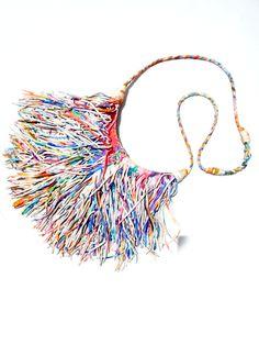 El Fleco Crossbody Fringe Bag Rainbow Leather #2 from IMPERIO jp