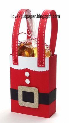 i love 2 cut paper: Santa and Elf Gift boxes: