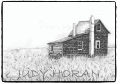 Old Farmhouse (2014) is an ink rendering of the lonely abandoned old farmhouse