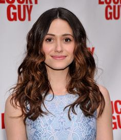 Emmy Rossum Long Wavy Cut - Emmy Rossum Long Hairstyles - StyleBistro