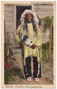 Vintage-Postcard-Sioux-Chief-Standing-Bear-Native-American-Indian.