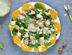 Salade met zalmfilet, spinazie en avocado-dressing: Omega-3 salade!  