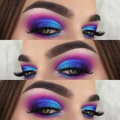 Looks dramatic Glamorous lip products trending now. Glamorous lip products trending now. Dramatic Eye Makeup, Makeup Eye Looks, Eye Makeup Steps, Beautiful Eye Makeup, Colorful Eye Makeup, Eye Makeup Art, Dramatic Eyes, Blue Eye Makeup, Cute Makeup