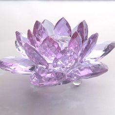 purple crystal lotus flower