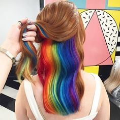 Amazing #hiddenrainbow by @notanothersalon! Tag a friend that would love this look!