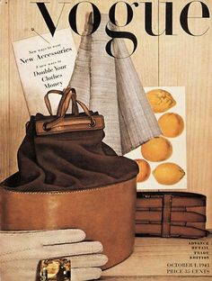 Irving PENN :: Still life, first cover photo for VOGUE dated Oct. 1943 - He went on to shoot more than 150 covers for Vogue. Irving Penn, Foto Fashion, Vogue Fashion, Fashion Art, Vintage Fashion, Trendy Fashion, Fashion History, Vogue Magazine Covers, Fashion Magazine Cover