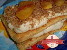 Apple millefeuille / glykesdiadromes.wordpress.com Pancakes, Apple, Breakfast, Wordpress, Recipes, Food, Apple Fruit, Morning Coffee, Recipies