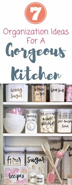 These are the best organization ideas for your kitchen! I love these ideas for a small kitchen or small pantry space.