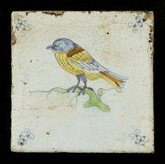 Tegel: Vogel op tak