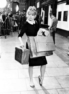 """Brigitte Bardot during the filming of """"Babette Goes to War"""", 1959 Bridget Bardot, Brigitte Bardot Young, Serge Gainsbourg, French Icons, Haha, Cannes Film Festival, Famous Faces, Style Icons, Cool Photos"""
