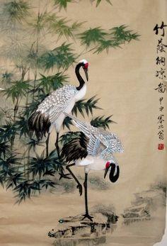 japanese crane pencil drawing - Google Search