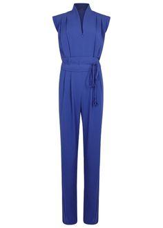Cobalt pleated crepe jumpsuit, £515.00 LAURÈL at Harvey Nichols harveynichols.com