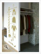 """Vinilo decorativo Flor4u®.  Textos personalizados. Modelo """"Vestidor"""" www.flor4u.com"""