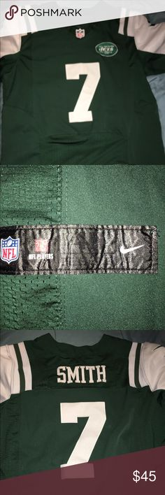 🎁Perfect Xmas Gift🎉NY Jets Geno Smith Jersey Wore it just once, it's men size so it fit me humongous. It's size 40. Come from smoke free home. No stain or snags. nfl Tops