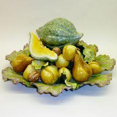 Celadon Gourd with Yellow Fruit Bowl - Katherine Houston Porcelain
