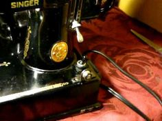 VINTAGE SINGER FEATHERWEIGHT 221-1 SEWING MACHINE youtube videos