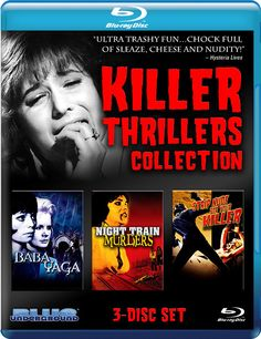 KILLER THRILLERS COLLECTION: BABA YAGA / NIGHT TRAIN MURDERS / STRIP NUDE FOR YOUR KILLER BLUE UNDERGROUND BLU-RAY