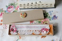 Handmade bookmark by Vicky Trainor, The Vintage Drawer Collection