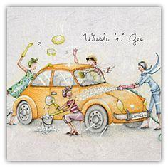 Wash 'n' Go Car Wash VW  , Ladies Who Love Life ... Berni Parker funny cute  Berni Parker Designs