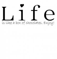 Zoedt Muursticker Life is like a box of chocolates