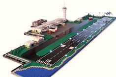 Micropolis Airport Dusk (by Lego City, Minecraft City, Minecraft Projects, Lego Airport, Lego Plane, Lego Design, Lego Ville, Micro Lego, Lego Boards
