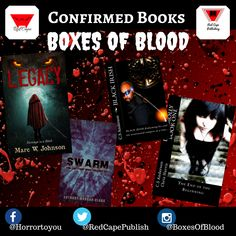 Hand-picked horror, delivered to your door. Featuring the best independent and small-press horror writers working today. Horror Books, Work Today, Writers, Badge, Blood, Boxes, Movie Posters, Crates, Film Poster