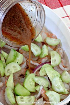 Cocina – Recetas y Consejos Shrimp Dishes, Shrimp Recipes, Mexican Food Recipes, New Recipes, Cooking Recipes, Healthy Recipes, Mexican Dishes, Recipies, Agua Chile Recipe
