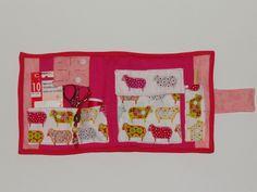 El mini costurero de patchwork abierto