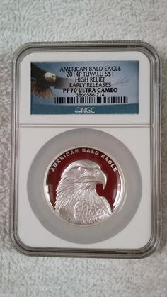 American Bald Eagle High Relief Proof Coin made by Australia. Only 5,000 made