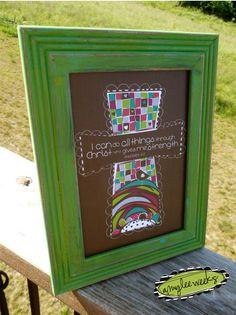 Scripture Art, All Things, Christian art (framed canvas-mounted art) 5x7. $25.00, via Etsy.