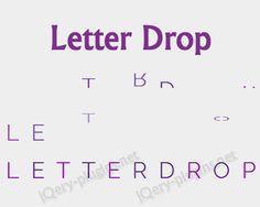 Letter Drop – jQuery Plugin for Letter Drop Effect  #jQuery #letter #drop #effect #dropeffect #css #javascript #rain