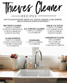 Thieves cleaner recipes