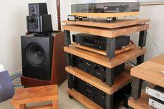 high end audio video equipment - Graeme Hole - Ikea Rack, Hifi Stand, Diy Rack, Rack Tv, Stereo Cabinet, Av Receiver, Best Home Theater, Vinyl Storage, Audio Room