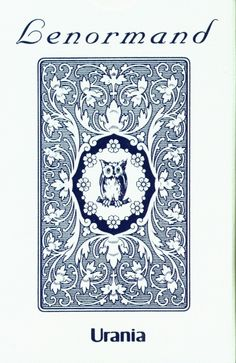 Lenormandkarten blau (Blaue Eule) - Jugendstil Tarotkarten -   Lenormandkarten nach Mlle Lenormand  Lenormand (blau - blaue Eule): 36 Orakel- Karten mit kleiner Anleitung. Nach der Methode von Mademoiselle Lenormand. Die Blauen Lenormand Karten, die auch unter dem Namen Blaue Eule bekannt sind, haben nur Kartensymbole auf der jeweiligen Karte, die Texte dazu befinden sich in der Anleitung.