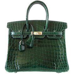 Hermes Green Croc | More colourful lusciousness here: http://mylusciouslife.com/photo-galleries/a-colourful-life-colours-patterns-and-textiles/