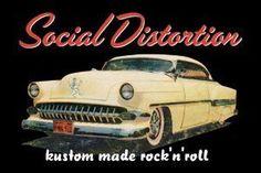 Social Distortion Car Magnet