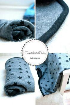 Einfache Babydecke aus Sweat selbst nähen - auch als Anfänger, tutorial Babydecken, sweatshirtstoff