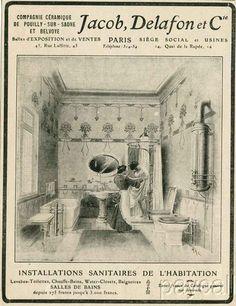 1927 Ad Print Jacob - Delafon - Bathroom Tub Sink Toilet Pan Bidet