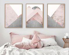 Pink Bedroom Decor You Can Try on Your Own - Modern Skandinavisch Modern, Modern Rugs, Modern Homes, Modern Classic, Modern Rustic, Trendy Bedroom, Grey Bedrooms, Modern Bedroom, Modern Closet