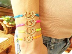 Arabic WAW bracelet  arabic letter Islamic by Handemadeit on Etsy, $12.90